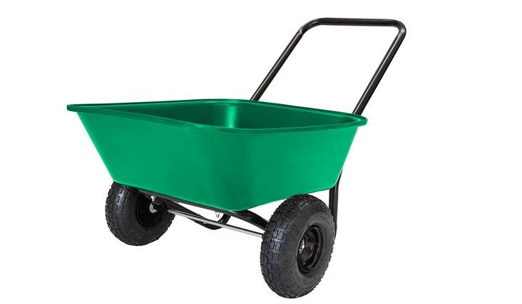 MARASTAR Garden Star 70019 Garden Barrow Dual-Wheel Wheelbarrow/Garden Cart