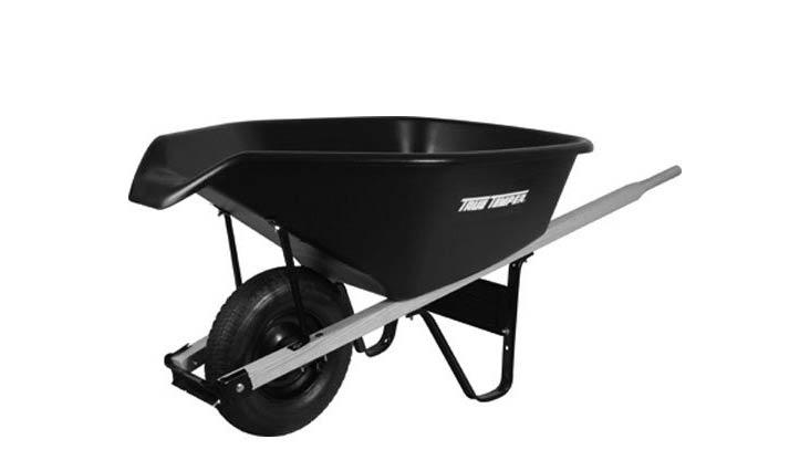 """Ames"" CP6PS Poly Wheelbarrow, 6 Cubic Feet, Black"