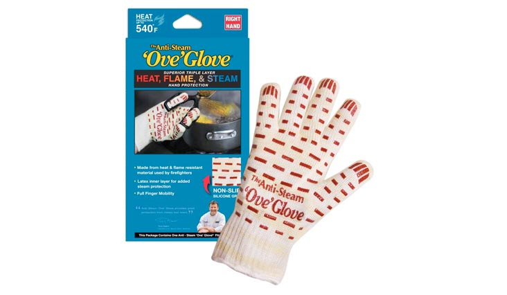 Ove Glove Anti-Steam, Hot Surface Handler Oven Mitt/Grilling Glove, Right Hand, Perfect For Kitchen/Grilling, 540 Degree Resistance