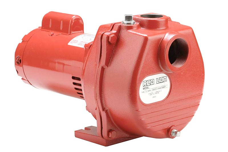Red Lion RLSP-200 Self-Priming High Capacity Sprinkler Pump, Cast Iron Pump, 2-HP 80-GPM