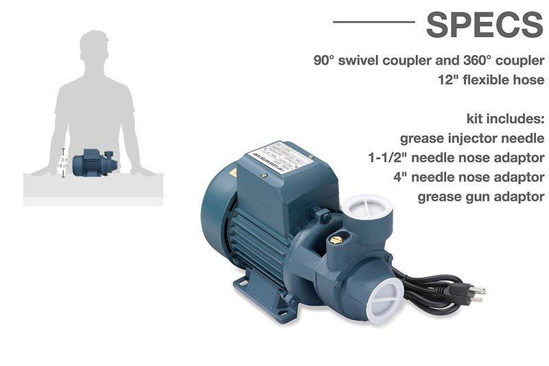 Neiko 50639 Electric Centrifugal Clear Water Pump, 1 HP