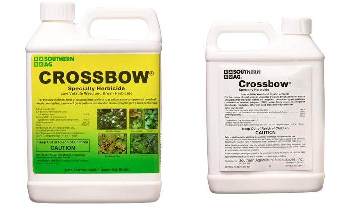 Southern Ag Crossbow Specialty Herbicide 2 4 D & Triclopyr Weed & Brush Killer, 32oz - 1 Quart
