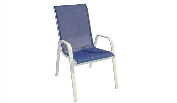 DC America 372139-BL4PK 4-Pack Fantasy Sling Chair, Blueberry