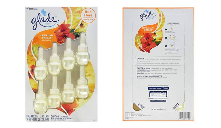 Glade Plugins Hawaiian Breeze .67 oz 8 Pack Refills