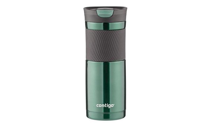 Contigo SnapSeal Byron Stainless Steel Travel Mug, 20 oz, Greyed Jade