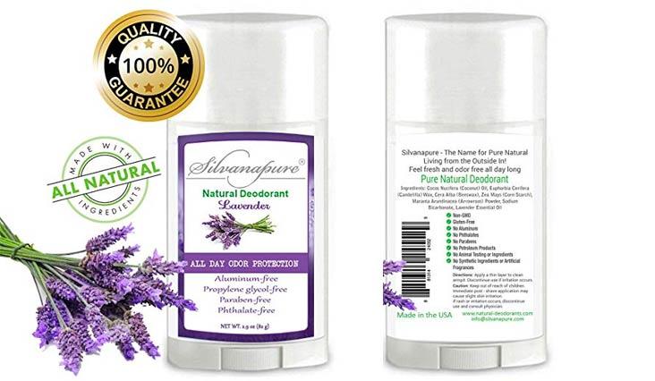 Natural Deodorant Stick Aluminum Free Lavender 2.9 oz Healthy Deodorant | GMO-Free | 100% Non-Toxic Deodorant | All Day Protection | Non Irritating | Non Sticky | Great Smelling Lavender Scent