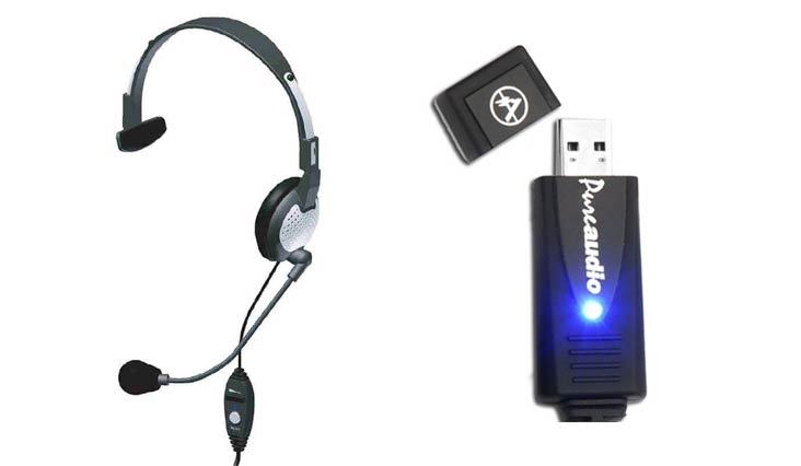 Andrea Communications NC-181VM USB On-Ear Monaural Computer Headset with noise-canceling microphone, in-line volume/mute controls, and built-in external sound card and USB plug