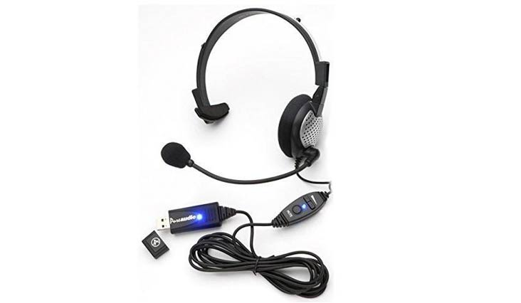 Monaural Voice Recognition USB Headset with Noise Cancelling boom Microphone for Dragon NaturallySpeaking 13, Dragon 13 Home, Premium , Professional & Dragon Dictate for Mac.