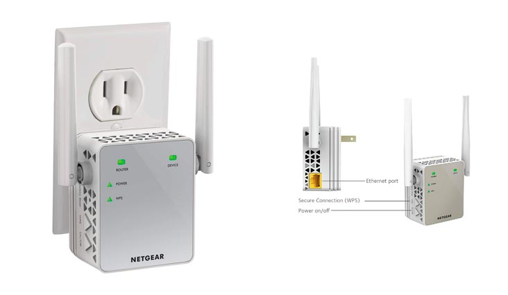 NETGEAR EX6200-100NAR AC1200 Desktop WiFi Range Extender (Certified Refurbished)