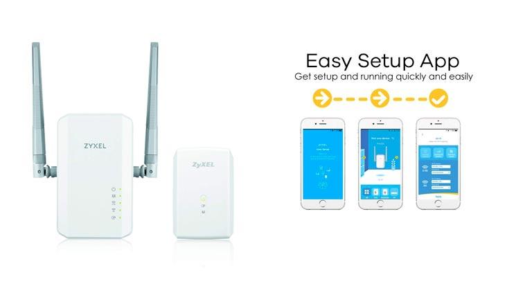 Zyxel Powerline AC900,1000 Mbps Wireless Extender [PLA5236KIT]