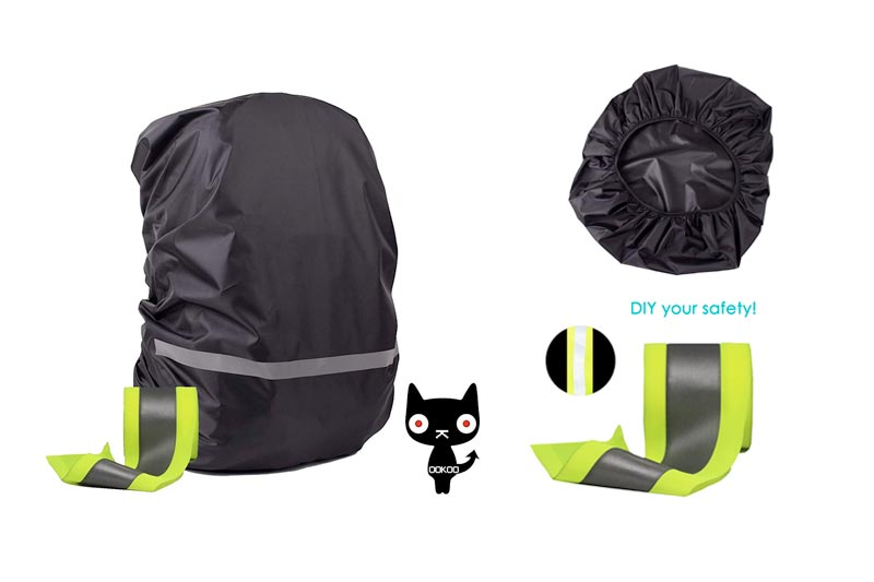 OOKOO Waterproof & Reflective Backpack Cover