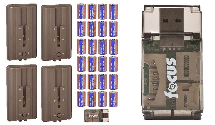 Cuddeback (4) CuddePower Battery Boosters for C, E, and G Trail Cameras, with D Batteries
