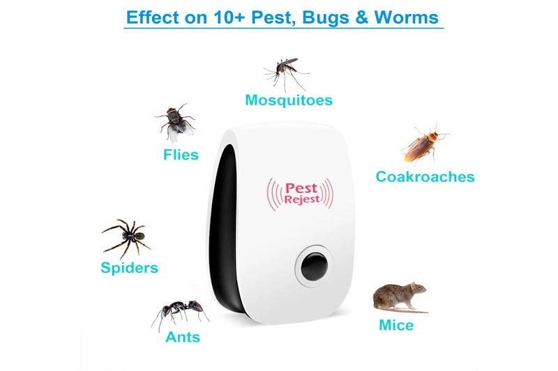 Ultrasonic Pest Repeller Plug in - Rat Repellent Warrior for Mouse Control, Insect Bed Bugs, Ants, Mice, Mosquito, Roach Killer, Fleas, Flies, Spider, Rodent, Cockroach Indoor, No Trap or Poison