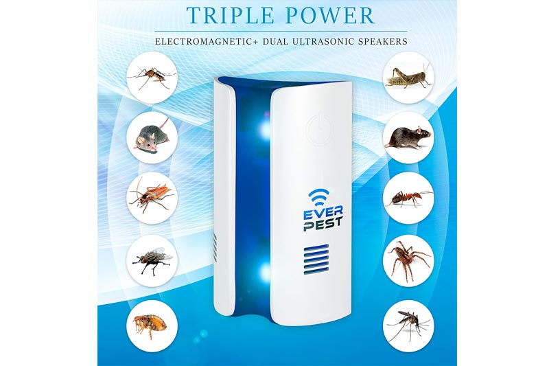 Ever Pest Ultrasonic Electromagnetic Pest Repellent Control 2018, Plug in Home Indoor and Outdoor Repeller, Get Rid of Mosquito, Ant, Flea, Rats, Roaches, Cockroaches, Fruit Fly, Rodent, Insect