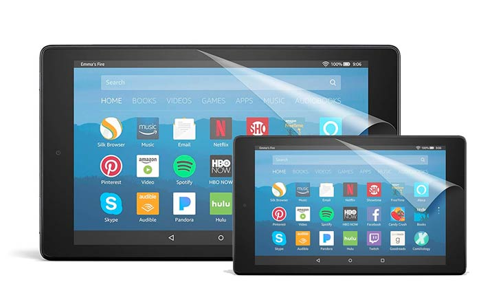 NuPro Anti-Glare Screen Protector for Amazon Fire HD 8 Tablet (7th Generation - 2017 release) (2-Pack)