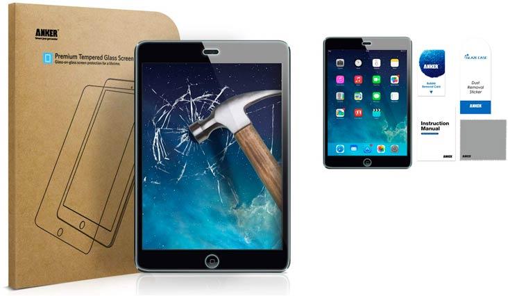 Anker Tempered-Glass Screen Protector for iPad Mini/iPad Mini 2 / iPad Mini 3 with Retina display - Premium Crystal Clear w/ (Not compatible with iPad Mini 4)