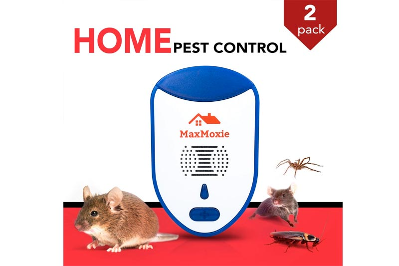 2018 Ultrasonic Pest Repeller Humane Mice Control Newest Electronic Insect Repellent 2 Pack Easiest Way TO Reject Rodent Bed Bug Mosquito Fly Cockroach Spider Rat Home Animal No Kill Plug In