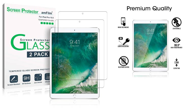 """New iPad 9.7"""" (2018 & 2017) / iPad Pro 9.7 / iPad Air 2 / iPad Air Screen Protector, SPARIN Tempered Glass Screen Protector - Apple Pencil Compatible/High Definition/Scratch Resistant"""