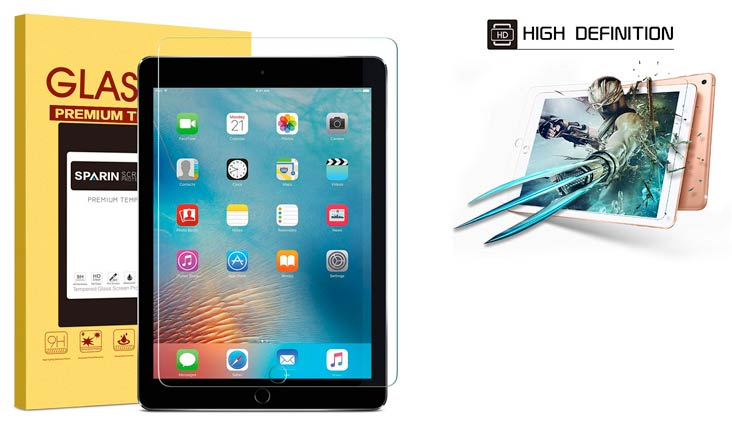 """iPad Pro 10.5 inch Screen Protector Glass (2-Pack), amFilm Tempered Glass Screen Protector for Apple iPad Pro 10.5"""" 2017 Case Friendly and Apple Pencil Compatible 0.33mm 2.5D Rounded Edge (2-Pack)"""