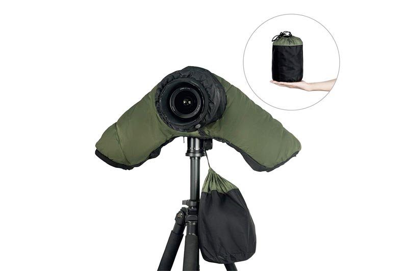 Mekingstudio Cold-proof Waterproof Rain Cover Rainproof Protector with Cold-Resistant Hand Sleeves for Canon Nikon Sony DSLR SLR Cameras Ideal for Outdoor Shooting